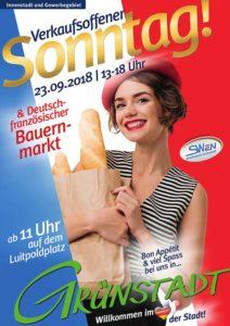Verkaufsoffener Sonntag und deutsch-französischer Bauernmarkt 2018