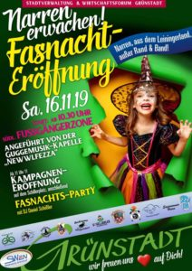 Auftakt zur Siedlerfasnacht in Grünstadt 2019