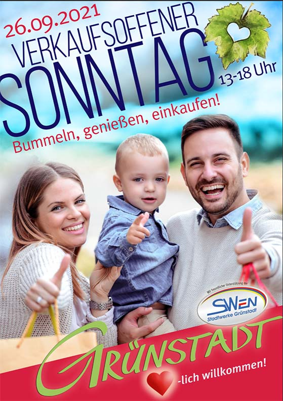 verkaufsoffener Sonntag Grünstadt 26.09.2021